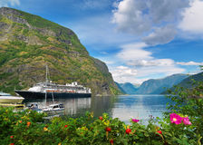 Fjord Sognefjord in Norway Stock Images