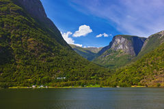 Fjord Sognefjord - Norway Royalty Free Stock Photos