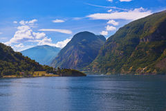 Fjord Sognefjord - Norway Royalty Free Stock Photography