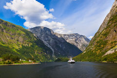 Fjord Sognefjord - Norway Royalty Free Stock Photo