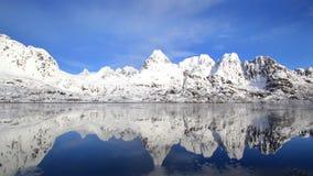 Fjord spéculaire Photo libre de droits