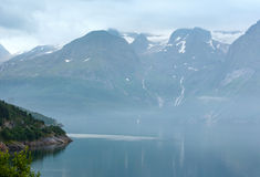 Fjord summer cloudy view (Norway) Royalty Free Stock Photos
