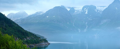 Fjord summer cloudy view (Norway) Royalty Free Stock Photography