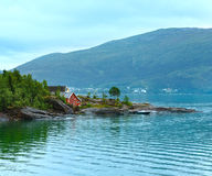 Fjord summer cloudy view (Norway) Royalty Free Stock Image