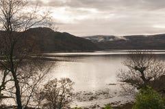 Fjord Sunart från Glenborrodale Royaltyfri Foto