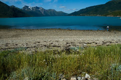 Fjord - Svartissen Nationalpark Stockfoto
