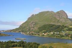 The fjord of Tangstad in Lofoten Stock Photos