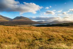 Fjord Tulla i Skottland arkivfoto