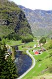 Fjord Village Landscape Royalty Free Stock Image