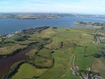 Fjord von oben lizenzfreies stockbild