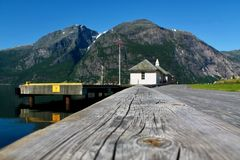 Fjord w Eidfjord zdjęcia royalty free