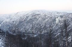Fjord in the winter Royalty Free Stock Image