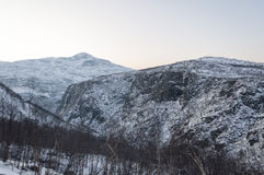 Fjord in the winter Royalty Free Stock Photos