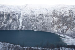 Fjord in the winter Royalty Free Stock Images