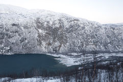 Fjord in the winter Royalty Free Stock Photography