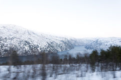 Fjord in the winter Royalty Free Stock Photo