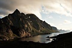Fjord zmierzch Obrazy Stock