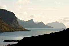Fjord zmierzch Fotografia Royalty Free