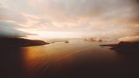 Fjordar av den västra Norge stock video