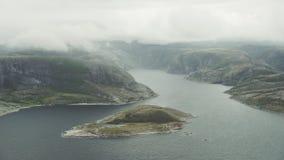 Fjordar av norr Norge stock video