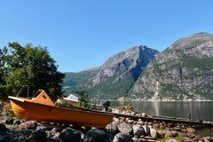Fjorde in Eidfjord, Norwegen lizenzfreies stockbild