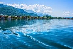 fjorde Seeansicht über Berge, Montenegro Stockbild