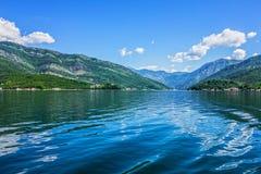 fjorde Seeansicht über Berge, Montenegro Stockbilder