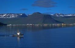Fjorde von Island Stockbild