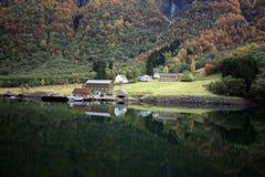 Fjorde von Norwegen Stockbild