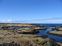 Fjorden in IJsland Royalty-vrije Stock Foto's