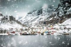Fjorden in Noorwegen Royalty-vrije Stock Afbeelding