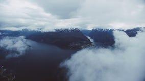 Fjorden van West-Noorwegen stock video