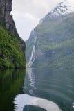 fjordgeirangerliggande Royaltyfri Fotografi