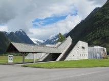 fjordglaciärmuseum norway Royaltyfria Foton