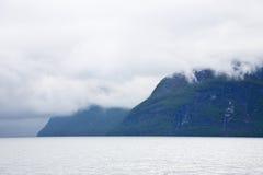 Fjordlandschaft Stockfoto