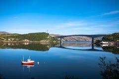 Fjordlandskap Royaltyfri Fotografi