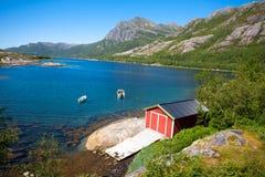 Fjordlandskap Arkivbilder