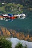 fjordmorgon norway Arkivfoto