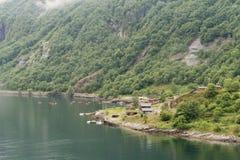 Fjordpier Stockfoto