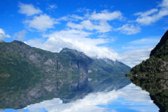 The fjords. View of Geirangerfjord in Norway, Europe Stock Photos