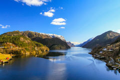 fjords Fotografia Royalty Free