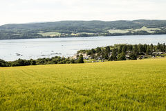 Fjords and beach Stock Images