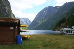 fjords canoes Royalty Free Stock Photo