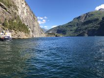 Fjords de Geiranger image stock