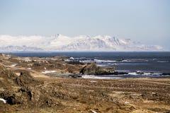 Fjords est en Islande Photos stock