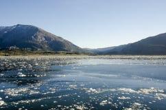 Fjords et Manche chiliens de Sarmiento Photos stock