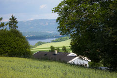 Fjords and home Royalty Free Stock Photo