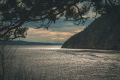 Fjords in north Quebec royalty free stock photo