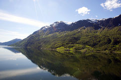 Fjords norvégiens, Geiranger Photo stock