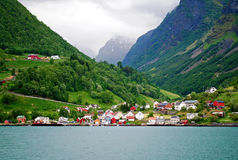 fjords norway Royaltyfri Foto